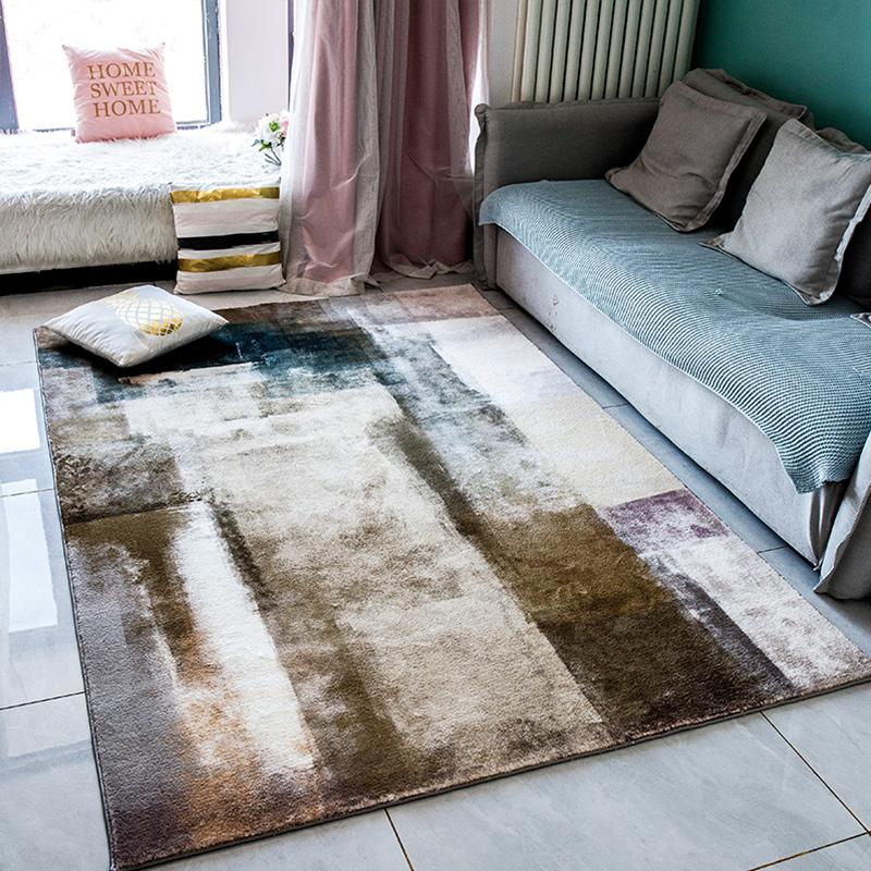 Resumo da tinta Tapete Sala antiderrapantes Sofa Coffee Table Mat Nordic Tapete Quarto Entrada decorativa Kitchen Rug