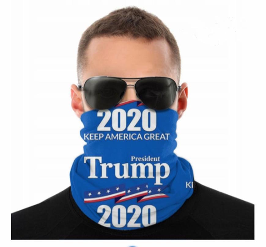 2020 Maschere USA Donald Trump senza giunte della sciarpa di collo Ghetta Shield Bandana viso Protezione UV per il motociclo in bicicletta riding Cerchietti