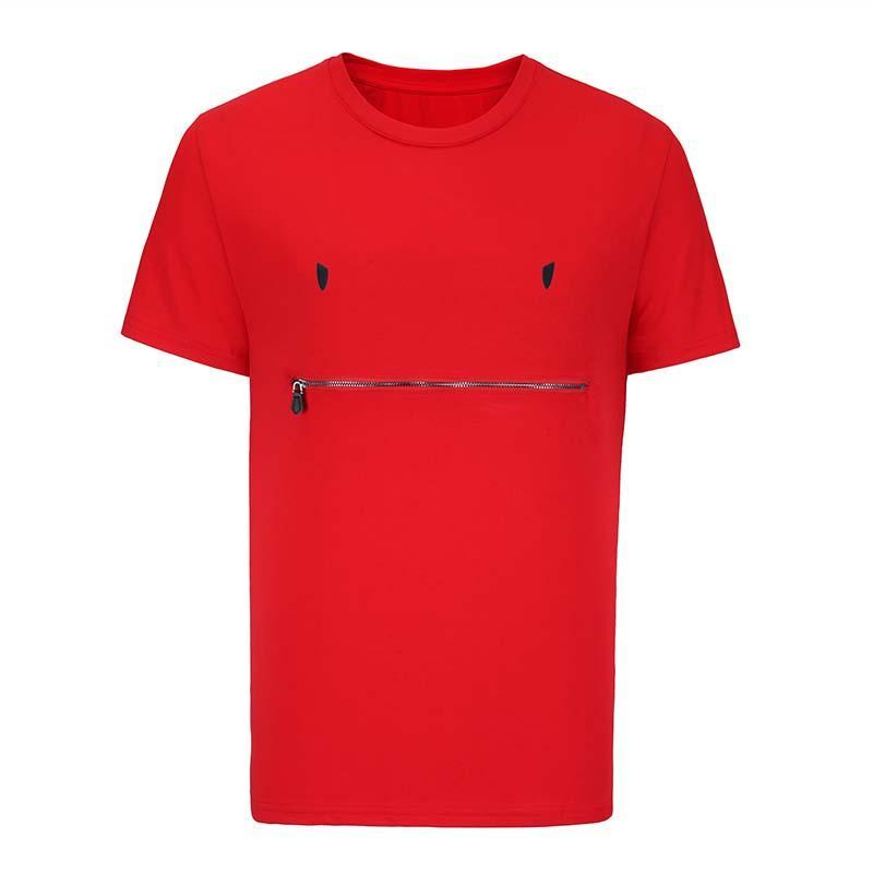 fendi FENDI men Mens Designer camisetas Fashion Designer Mens Vestuário Verão Casual Streetwear Olhos Designer T Shirt Rivet Cotton Misture Crew Neck curto