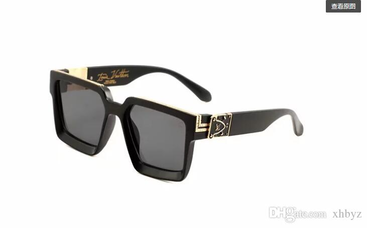 Lente polarizada de alta qualidade piloto moda óculos de sol para homens e mulheres marca designer vintage sport óculos de sol with0993