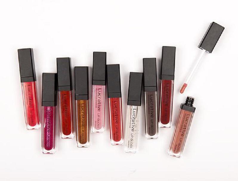 핫 새로운 광물 유리한 립 글로스 10 색 하이 샤인 리퀴드 립스틱 자연 오래 지속되는 립글로스 메이크업 도매 무료 배송