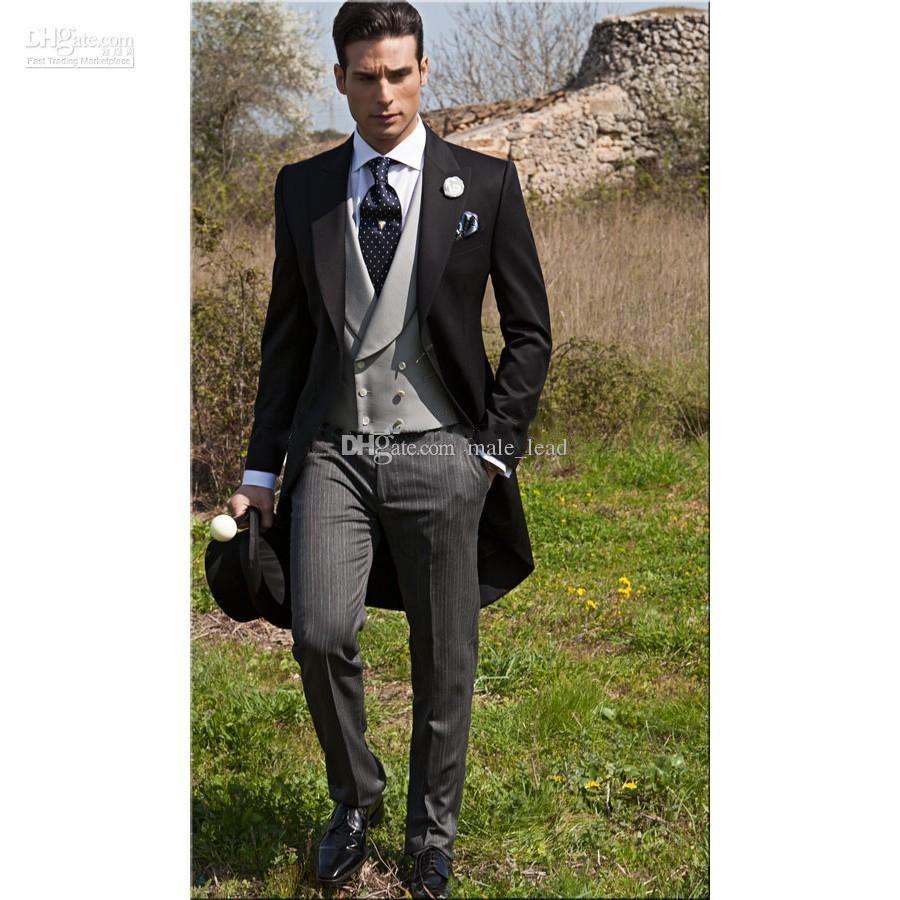 Новое поступление на одну кнопку Groomsmen пик отворота жениха смокинг мужские костюмы свадьбы / выпускной лучшему человеку BEAZ BLAZER (куртка + брюки + жилет + галстук) 016