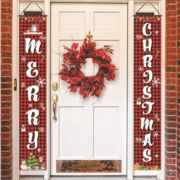 Merry Xmas Flags Weihnachten Banner Weihnachten Milu Deer Rentier Flagge Dekorationen Weihnachten Türvorhang Couplets Xmas Party Banner 7 Stil WY61Q