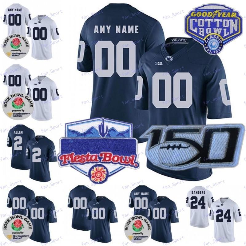 Benutzerdefinierte Penne Penn State Nittany Lions Football Jersey Sean Clifford KJ Hamler Jahan Noah Kain Dotson Parsons Freimuth Ford Cotton Bowl 150th