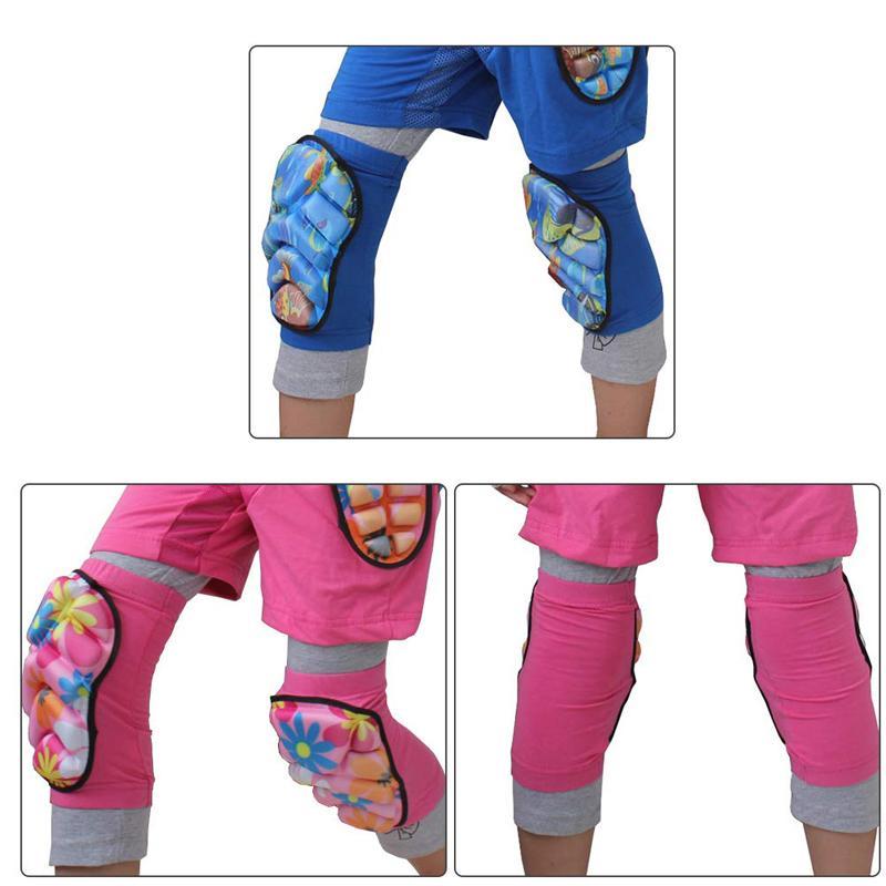 أطفال لينة وسادات الركبة الكبار الأطفال التزلج على الجليد وسادات الركبة المهنية واقية مطاطا الساق واقية للتزلج على الجليد الأسطوانة