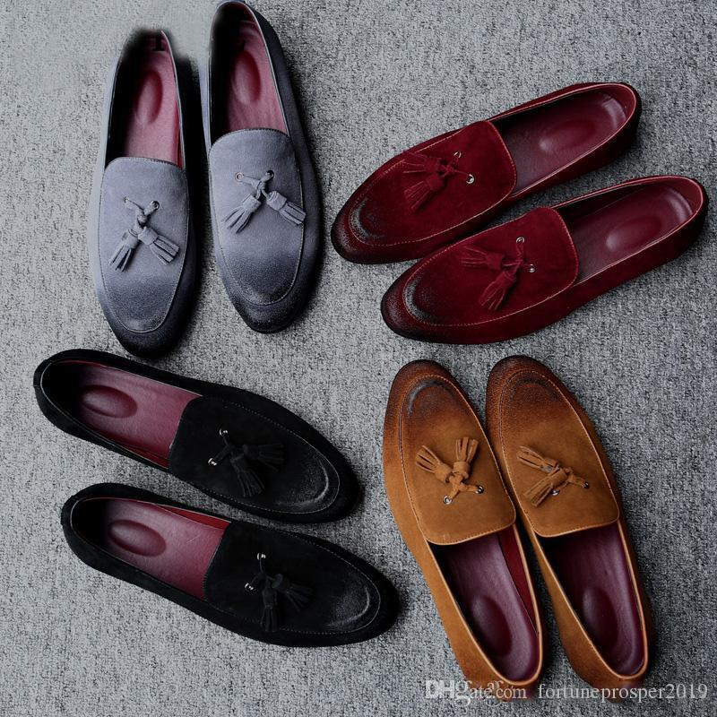 püskül makosenler erkekler düğün ayakkabıları resmi erkekler ayakkabı homme derbies cuir kuaför moda erkek ayakkabıları düğün lüks chaussures