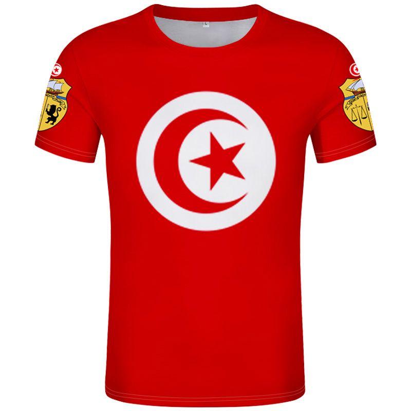 maglietta TUNISIA fai da te numero nome personalizzato tun T-shirt nazione bandiera Tunisie tn islam arabo arabo tunisino stampa fotografica 0 abbigliamento