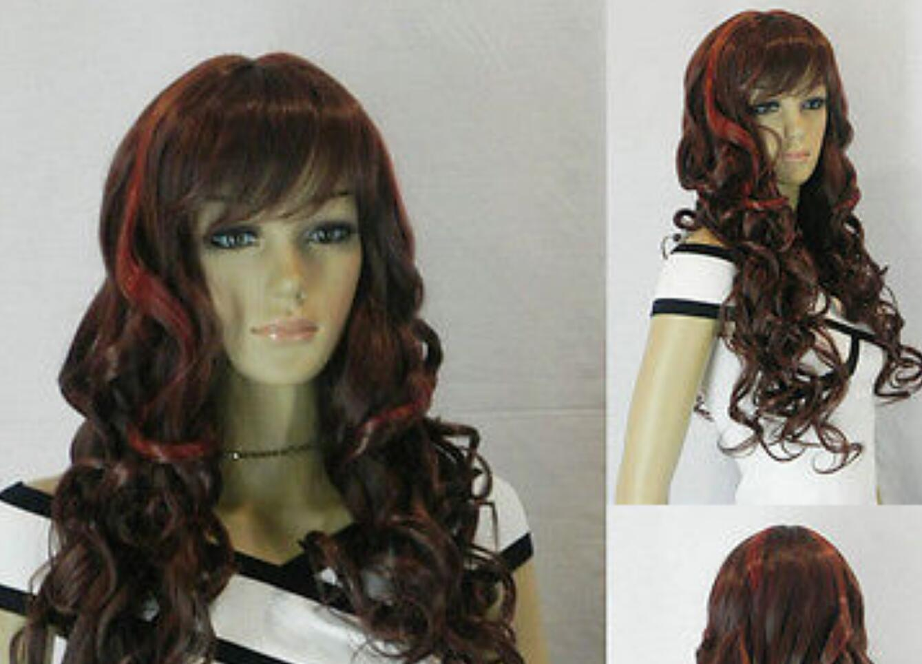 WIG LL Marie Anime Style Long Wavy Hair Wig Costume Black White Bear Mix Wig Renaissance Costume wigs fast deliv