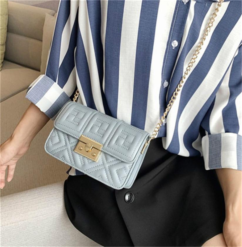 Moda bolso de hombro con estilo del bolso de Crossbody de la cadena bordado Línea pequeña bolsa Plaza PH-CFY20051835