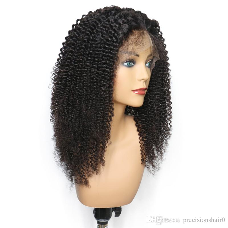 Kinky Curly Lace Front Wigs Human Hair Glueless Full Lace Wigs For Black Women Mongolian Afro Kinky Curly Human Hair Wig