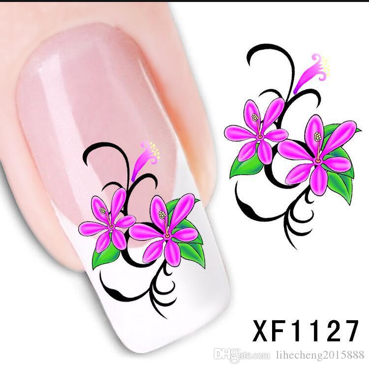 1 yaprak Yeni Tırnak Yaprağı Tasarım Su Transferi Nail Art Etiketler Dekorasyon DIY Dövmeler Manikür İpuçları Nail Art Aksesuar