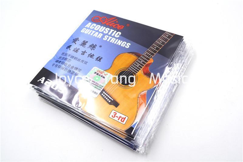 10 Pack Алисы A203 024 Single Акустической гитары Струна третьего G -3 Phosphor Bronze сплав цвета Рана Строка