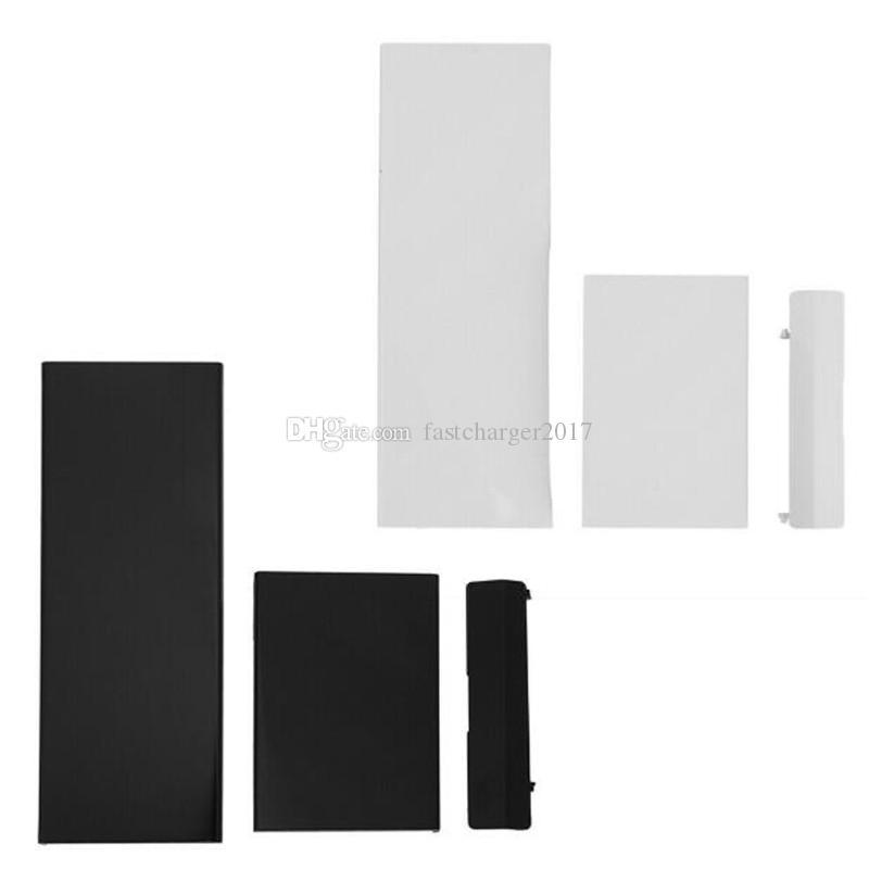 Coperture di slot della porta di ricambio 3 in plastica nera bianca per la copertura del custodia della scatola della console di Nintendowii