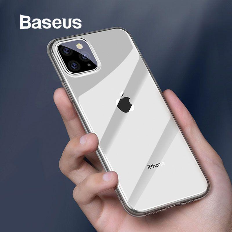 للحصول على 11 برو ماكس حالة Baseus رقيقة جدا شفافة TPU الغطاء الخلفي للقضية فون 11 11 برو الهاتف كابا كوكه الهاتف القضية