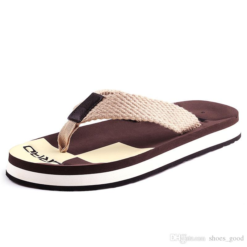 Three Colors Summer New Fashion Beach Wovenslippery Casual Leisure Cool Fashion Flip Flops for Men Outdoor Comfortable to Wear Slippers