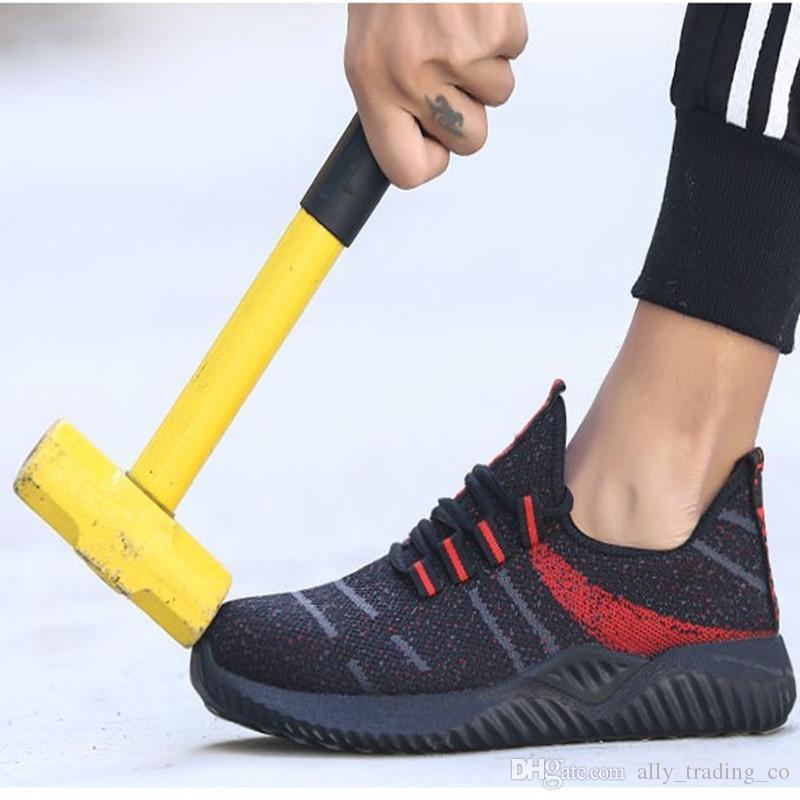 Sicherheitsschuhe 2020 Neue Arbeitssicherheit Schuhe Mode Ultra-light weiche Unterseite Männer Breathable Anti-Smashing Sicherheit Industrie-Stahl-Toe Arbeitsschuhe