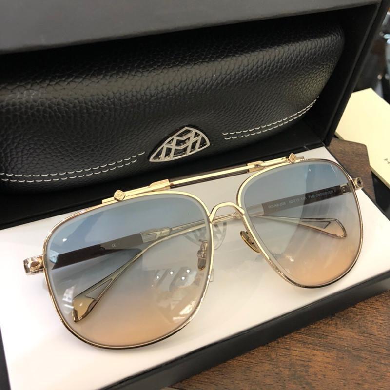 Top K золото мужчину очки автомобиль дизайнер очки квадратного титан кадр сверху количество открытого UV400 очки наблюдатель 2 высокого качество