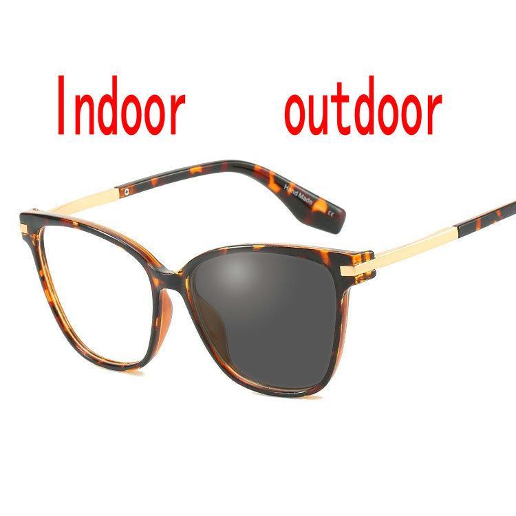 Kurzsichtigkeit Sonnenbrille Photochromic Finished Runde Frauen Myopie Brillen Rahmen mit Farbe Objektiv Sonnenbrille Eyewea FML