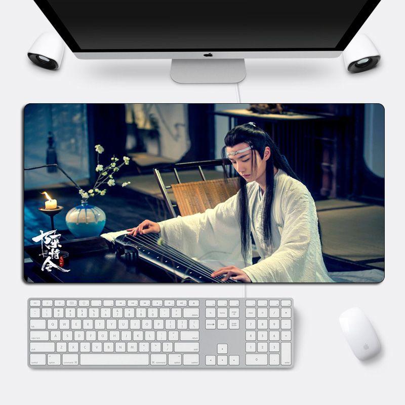 DIY Custom The Untamed Mouse pad 60*30cm Xiao Zhan Wang yibo Large Gaming Mousepad Locking Edge 60x30cm Cool Durable Computer Desk Mat