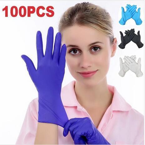 Luvas luvas descartáveis luvas de borracha nitrílica borracha de látex casa Alimentos Laboratório de limpeza de borracha elástica de protecção resistentes a Glove ZYQ566