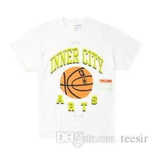 Advisory Board Crystals Inner City Arts T-Shirt White Green (Size M Medium)