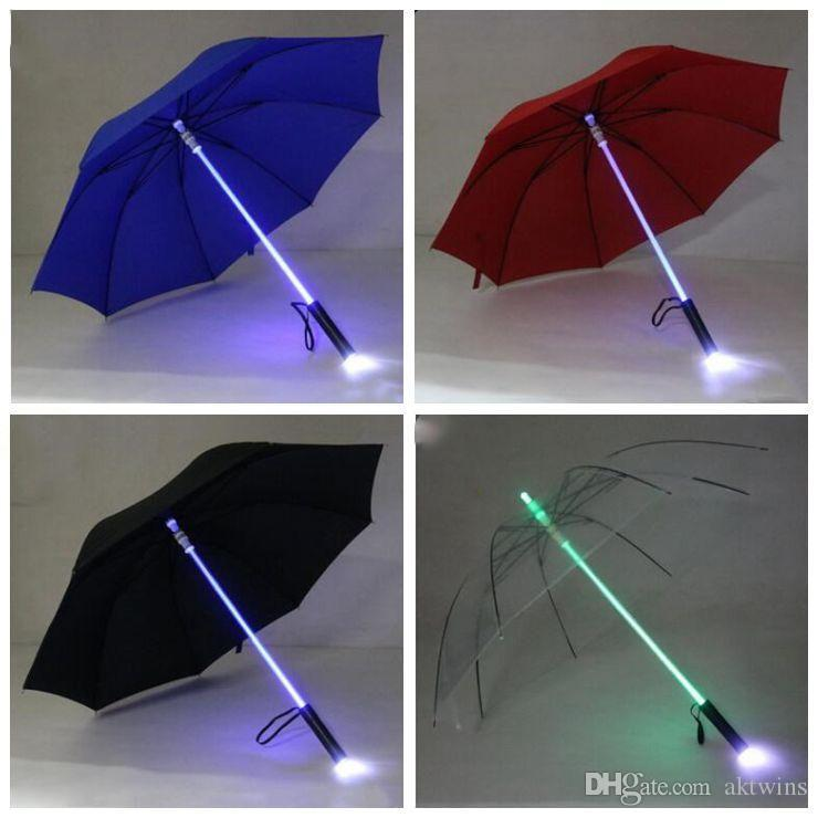 Luz LED paraguas fresco de Blade Runner Light Saber flash Rose Paraguas Corredor de la sombra de la linterna Botella LXL754-1 paraguas del producto Inicio