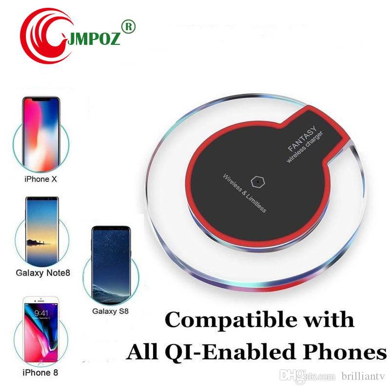 Premium Quality K9 Ци Беспроводное зарядное устройство Pad для iPhone X Dock Зарядное устройство с USB-кабель для Samsung Note 8 S8 S6 Грань с розничной коробкой
