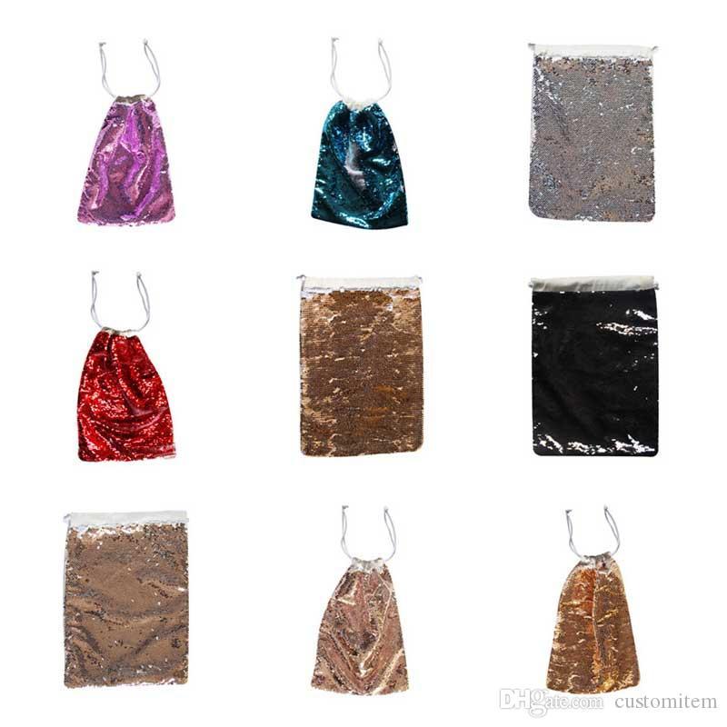 grande promozione sublimazione vuoto paillettes coulisse borse hot trasferimento stampa sacchetto organizzatore fai da te personalizzato consumabili prezzo di fabbrica