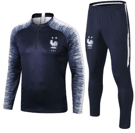 Maillot de Foot Crianças Juventude survêtement 2018 2019 jerseys copo Equipe de France Juventude manga longa treino camiseta