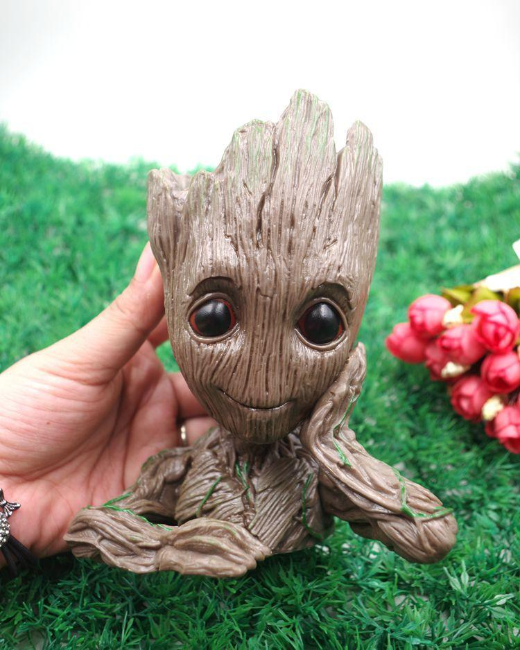 Avengers 3 Guardians of The Galaxy Flowerpot Baby Groot Action Figures Cute Model Toy Pen Pot Best Christmas Gifts For Kids