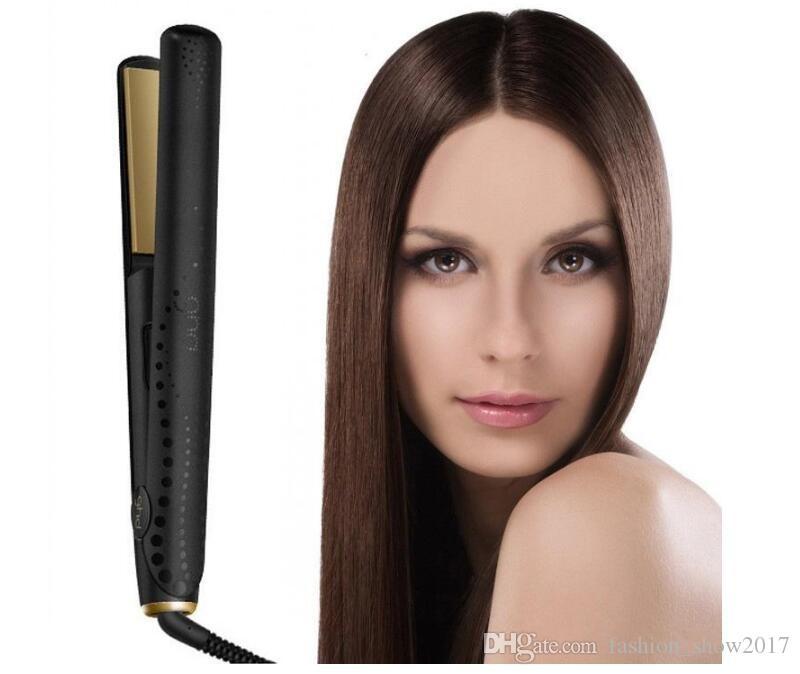 الطراز الساخن V الذهب ماكس فرد الشعر الفنية الكلاسيكية سريعة تنعيم الشعر الحديد الشعر أداة التصميم