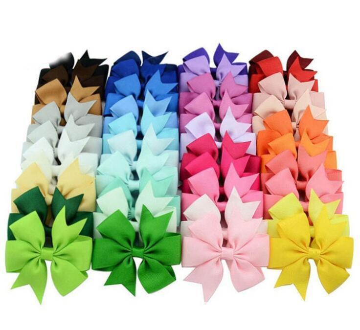 De calidad superior 40 del color Accesorios Niños pinzas de pelo de la muchacha del arco de pasadores Llanura horquilla arco Kid Hairwear Multicolor