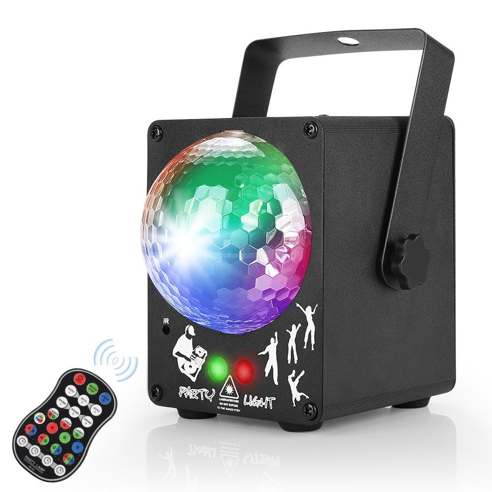 LED Disco Laser lumière RGB Projecteur Party Lights 60 modèles DJ Magic Ball Laser Holiday Party de Noël scène lampe d'éclairage Effet