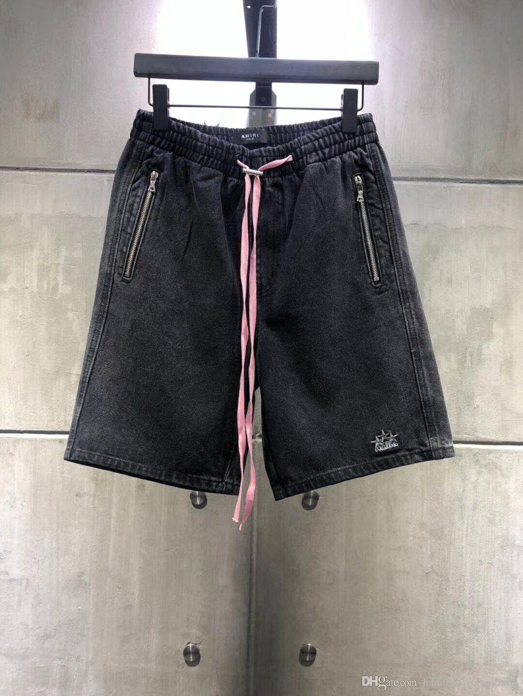 Pantaloni in denim Shorts 20ss estate Solid stile classico dei pantaloni di scarsità dei jeans denim sottile Mens dei pantaloni di bicchierini degli uomini di modo superiore Dimensione 28-36