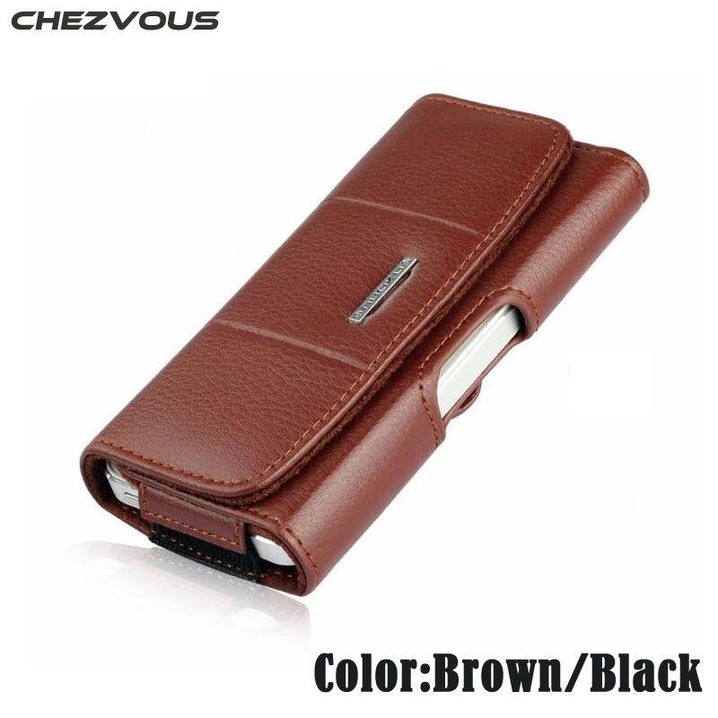 من صنع يدوي للرجال الخصر الحقيبة لفون 4 4S 5 5S SE حزام كليب الحافظة جلدية الحالات الهاتف المحمول الحقيبة لفون 6 6S 7 زائد