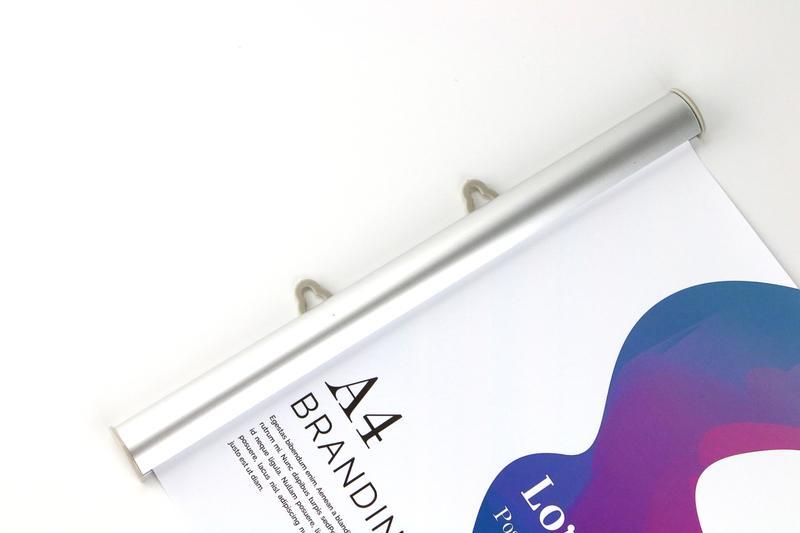 30 cm promoção da loja dispositivo elétrico cartaz tira cabide banner clipe haste da bandeira trilhos snap retrato cartaz braçadeira Bandeira Pólo clipe