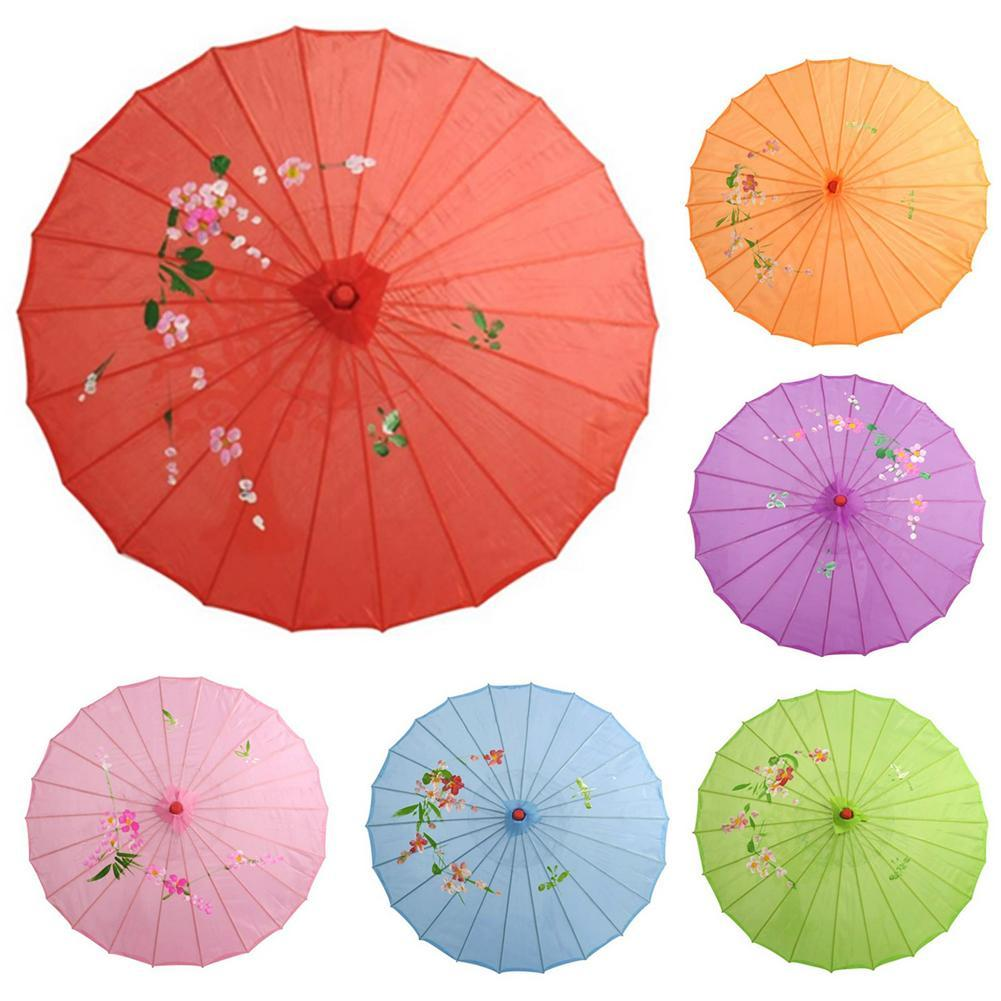Chinese Style Vintage Silk Oilpaper Umbrella Women Decorative Umbrella Dancing Photo Shoot Decor Parasol Dance Props Umbrellas