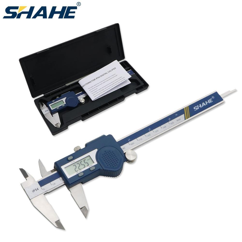 SHAHE Electronic Vernier Caliper 150 mm Digital Vernier Calipers Micrometer steel Vernier Caliper Messschieber paquimetro 150 mm T200602