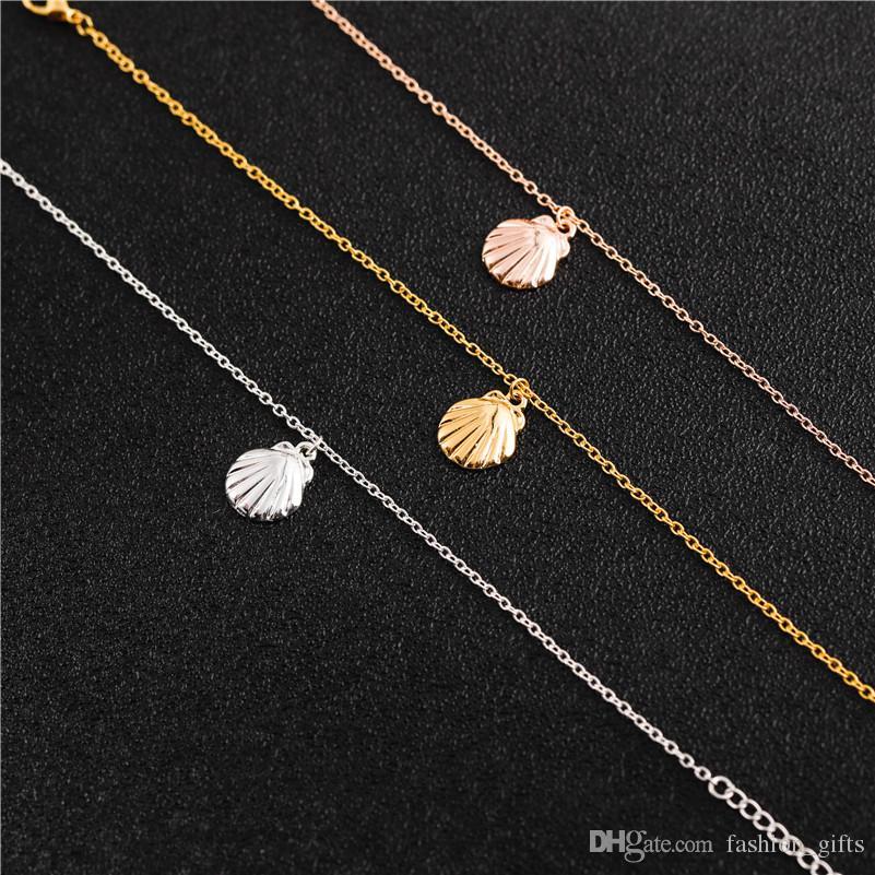 1 pcs praia pequena cadeia de concha bonito oceano pulseira animal concha sandálias starfish senhoras festa sorte mulher homens homens presentes jóias
