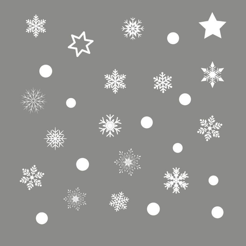 Diy neve branca de natal adesivos de parede festival de vidro da janela decalques murais de santa decorações de natal ano novo para decoração de casa