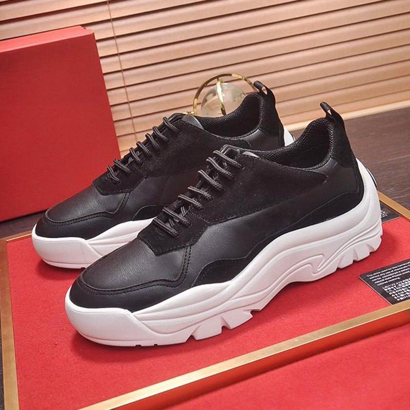Mens nueva alta calidad de los zapatos Calzado deportivo clásico de la vendimia Gumboy becerro zapatilla de deporte baja -Up tapa del cordón de los zapatos ocasionales Zapatos De Moda Para Hombre