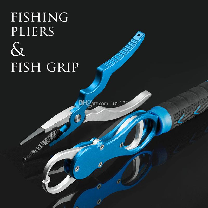 Aluminum Alloy Fishing Pliers Grip Set Fishing Tackle Hook Recover Cutter Line Split Ring High Quality Fishing Tool