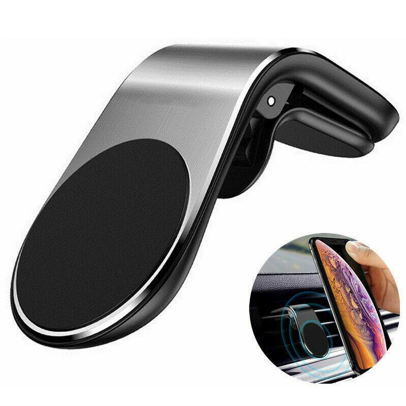 Titulares de telefone do carro magnético L suporte de suporte de caixa de montagem de ventilação de ar para Samsung Support GPS com pacote