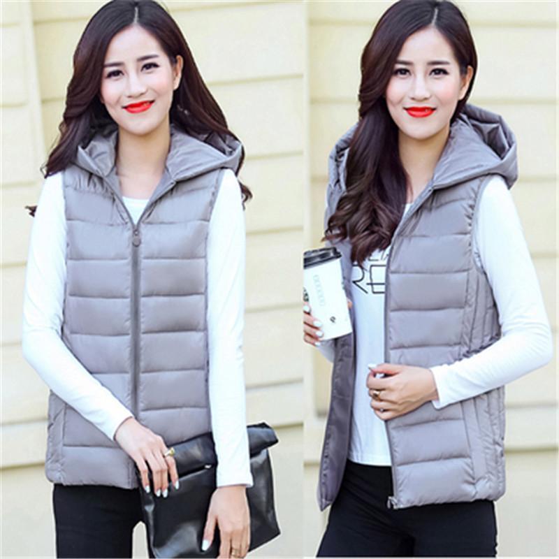 Kadın Bahar Artı boyutu Kapşonlu Kalın ceket Aşağı Kadın Sonbahar Boy Parkas Lady Kış Yelek Kadın Palto Aşağı Isınma