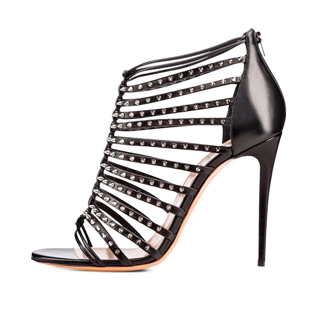 Wed2019 Siyah Bayan Beyaz Yüksek Organizasyon Sandalet Chengdu bayan Ayakkabıları ile Perçin Paketi