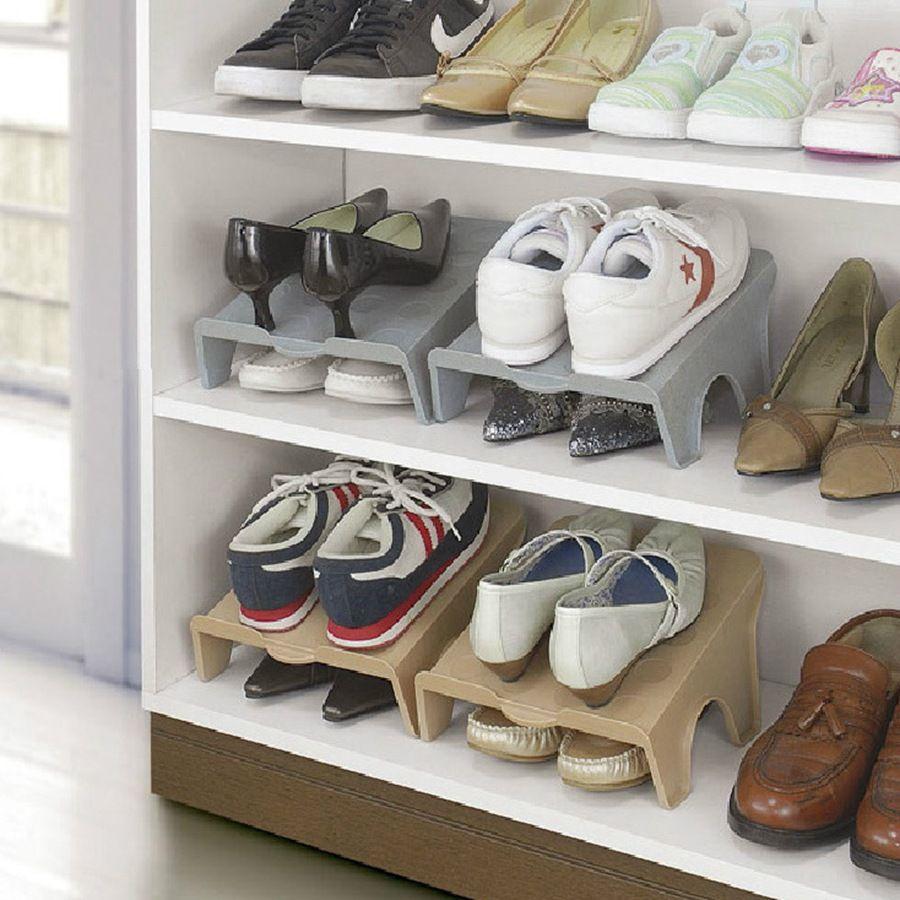 Zapatos de zapatos de espesor doble Bastidores de almacenamiento moderna de limpieza Rack Room Living Shoebox conveniente Zapatos Organizador soporte del estante