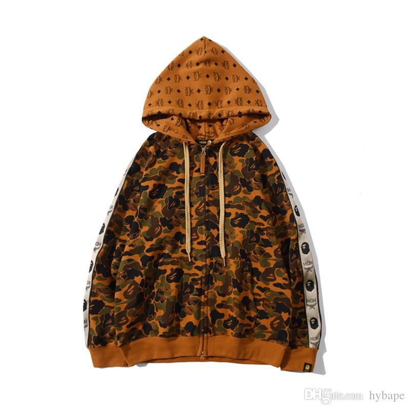 도매 새로운 남성의 공동 사막 카모 테리 카디건 후드 재킷 남성 캐주얼 카디건 카모 자켓 탑
