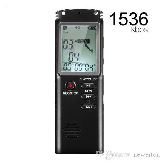 2PCS 8GB في الوقت الحقيقي عرض T60 المهنية تسجيل صوتي رقمي الإملاء
