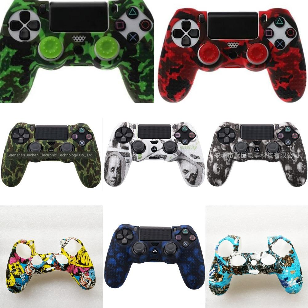 qBbEM 4 Colors Anti-slip Skin Cover Silicone for Case Sony PlayStation Dualshock 4 PS4 DS4 Pro Slim Controller