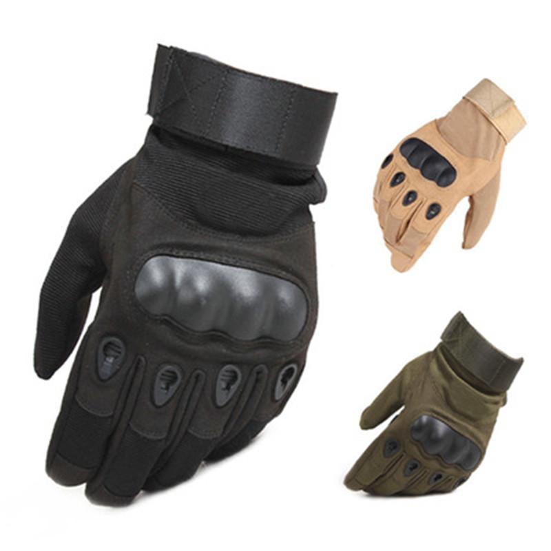 Guanti tattici Uomini Inverno Finger rigido Knuckle Guanti Paintball Airsoft tiro di combattimento Guanti Anti-Skid della bicicletta